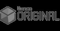 black and white logo of Banco