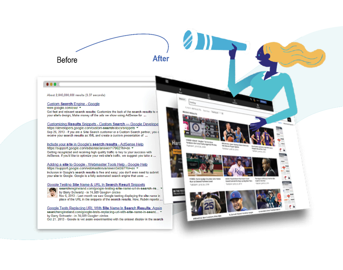 Zoomd on site search engine