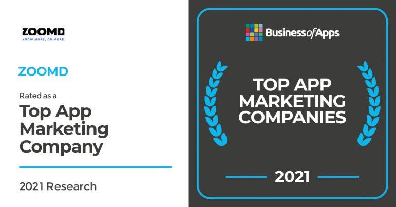 Zoomd - top app marketing company 2021