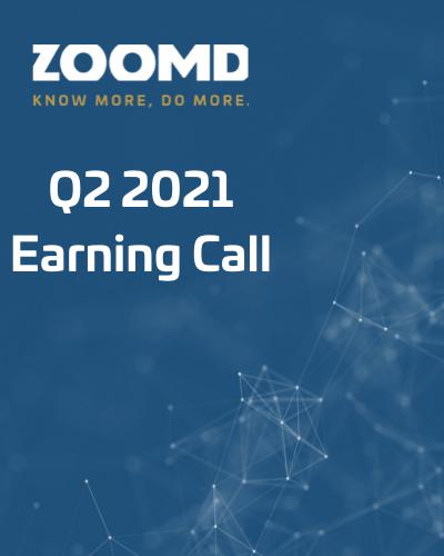earning call Zoomd 2021